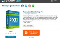 [Free] แจกฟรี Auslogic Disk Defrag Pro 4 ใช้งาน 1 ปีเต็ม