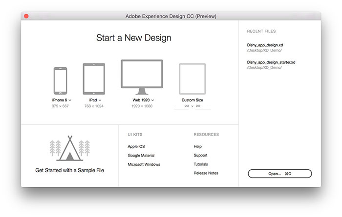 AdobeXD_Start